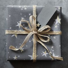 Christmas wrapping by The White Company