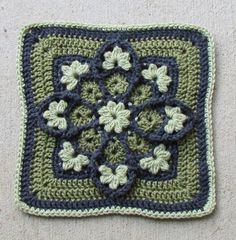 Stained Glass Crochet Square.... #crochet_inspiration ....