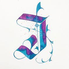 "FᎡᏞᏞᏆᏩᎡᏢᎻY on Instagram: ""I for I  @36daysoftype hope you like it. #36daysoftype #36daysoftype04 #36days_i #calligrafia #calligraphy #calligraphyart…"""