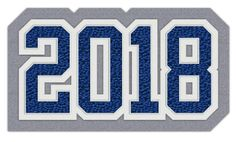 Connected Year Graduation Class Patch, 2018  #chenilleyear #varsityjacket #varsityjackets #jacketpatch #graduationpatch #graduationclass #schoolaward #neffco #grads #2018