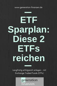 ETF Sparplan - mit nur 1 oder 2 ETFs - Finance tips, saving money, budgeting planner The Plan, How To Plan, Planning Budget, Financial Planning, Finance Jobs, Savings Planner, Budget Planer, Business Credit Cards, Managing Your Money