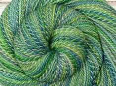 Handspun Yarn, Worsted Weight - LUCK O' THE IRISH - Handpainted Bluefaced Leicester wool, 248 yards, gift for knitter, weft yarn by BlackSheepGoods on Etsy
