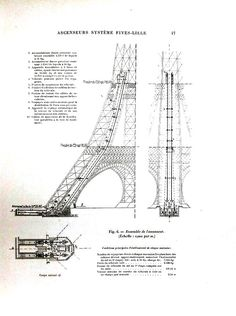 Design - Architectural - Drawing - Eiffel Tower, structural