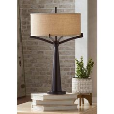 Buy Tremont Mid Century Modern Table Lamp Rich Bronze Iron Burlap Fabric Drum Shade for Living Room Family Bedroom Bedside - Franklin Iron Works Tall Table Lamps, Ceramic Table Lamps, Iron Table, A Table, Farmhouse Table Lamps, Best Desk Lamp, Traditional Table Lamps, Mid Century Modern Table, Industrial Table