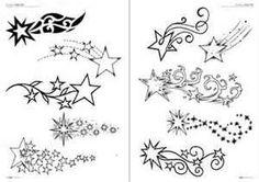 Estrellas Tattoo Flash Dibujos Tatuajes  Hawaii Dermatology