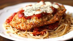 Oven Baked Chicken Parmesan, Easy Baked Chicken, Baked Chicken Recipes, How To Cook Chicken, Recipe Chicken, Chicken Parmesean, Parmesan Pasta, Parmesan Crusted, Crusted Chicken