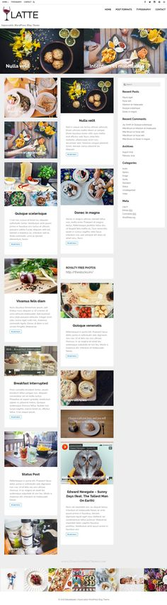 Latte is a modern responsive WordPress blog theme perfect for a personal #blog or magazine. It is highly customisable with lot of featured and easy to use Theme Options. #food #recipe