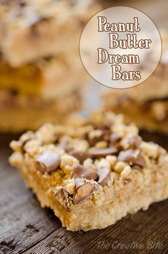 Peanut Butter & Chocolate Dream Bars are a rich dessert topped with a chocolate & oatmeal crumble for an easy & decadent bar that will disappear in no time!