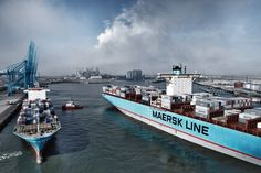 Global Logistics Media - The Mighty Maersk - A Collection of Must See Images