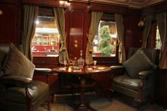How posh are these old train cars? #BritRail