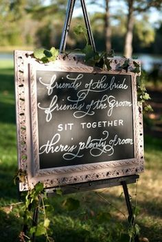 Ceremony sign with calligraphy by Pretty In Print; Paige Elizabeth Photography; planning by Kelley Cannon Events