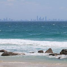 Shades of blue. View of Surfers Paradise from Snapper Rocks #surfersparadise #snapperrocks #myphoto #blue #australia #shadesofblue #100400mm #canon by dubiotto