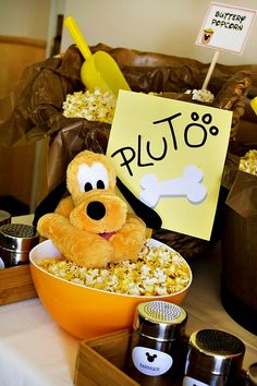 An Incredible Mickey Mouse First Birthday Party: Pluto's Popcorn