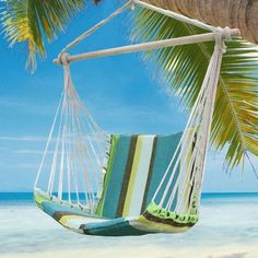 AdecoTrading Hammock Chair Color: Blue