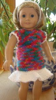 "Bizzy Crochet: Simplicity Dress- 18"" Doll Clothes Pattern"