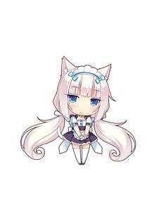 Anime Neko, Anime Manga, Kawaii Anime, Candle Drawing, Anime Girl Drawings, Cute Chibi, Cute Creatures, Kawaii Girl, Manga Art