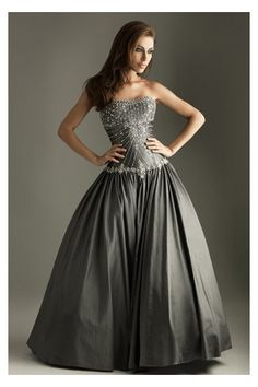 silver ball gown dresses - Google Search