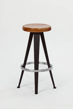 The Warehouse — Three Barstools, Design by Jean Prouve - 1980s