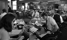 The office of United Press International news and picture agency in May 1970