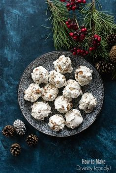 How to Make Divinity (candy), Creamy, sweet nougat wtih pecans (recipe and tips). Gluten-free. http://BoulderLocavore.com