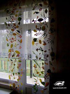 Autumn window display. Gloucestershire Resource Centre http://www.grcltd.org/scrapstore/