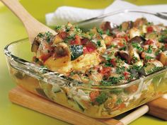Ratatouille polenta bake. 260 calories per serving. Think I'll try this for next Sunday's supper (as a side dish) & bring leftovers to work for my lunch on (Meatless) Monday.