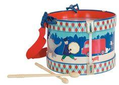 heerlijke retro trommel Moulin Roty | kinderen-shop Kleine Zebra