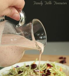 Cranberry Asian Ginger Dressing! The warmth of ginger and tanginess of cranberry is the perfect combination to give your salad some Asian flare!