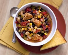 No shortage of flavor in this spice-rich chicken chili! The recipe doubles easily to feed a crowd.