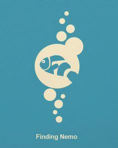 #PIXAR #Minimal_Design_Poster #Finding_Nemo #ファインディング_ニモ #ピクサー #ミニマルデザイン_ポスター