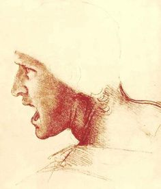 Page: Study of a Figure for the Battle of Anghiari  Artist: Leonardo da Vinci  Place of Creation: Italy  Style: High Renaissance  Genre: sketch and study  Technique: chalk  Material: paper