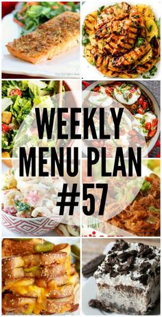Weekly Menu Plan - a great collection of dinner ideas, sides and desserts to help you plan your weekly meal plan! Meal Planning Board, Weekly Menu Planning, Family Meal Planning, Family Meals, Meal Planing, Family Recipes, Crockpot Recipes, Cooking Recipes, Ww Recipes