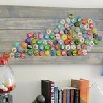 Great idea for finally using up all the bottle caps I've been hoarding...ehem...I mean...saving for a brilliant project