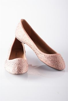 Dew Drop Day Studded Ballet Flats - Blush from Casual & Day at Lucky 21 Lucky 21