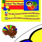 Pin the feather on the turkey is a game where children will pin the feather to the turkey. It is a 3x4 grid PDF printout and once you put it togeth...