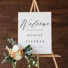 Wedding Welcome Sign Design by Revel + Wild Paper Co. @revelandwild www.revelandwild.com