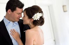 What are you wearing in your hair? :  wedding hair flower clip accessory 66240.updoinspiration.jpg
