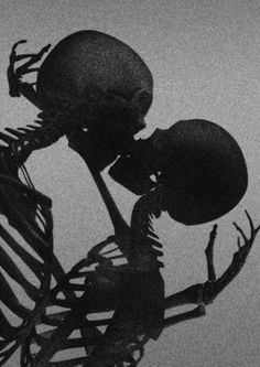 Bone-Kiss by David McBurney - Tr Tutorial and Ideas Aesthetic Collage, Aesthetic Grunge, Death Aesthetic, Red Aesthetic, Photo Wall Collage, Picture Wall, Black And White Photo Wall, Japon Illustration, Skull Illustration