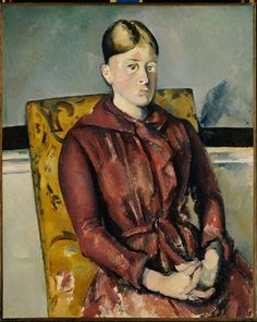Paul Cézanne (French, 1839–1906). Madame Cézanne in a Yellow Chair, ca. 1888-90. Fondation Beyeler, Basel.   This work is featured in our Madame Cézanne exhibition on view through March 15, 2015.