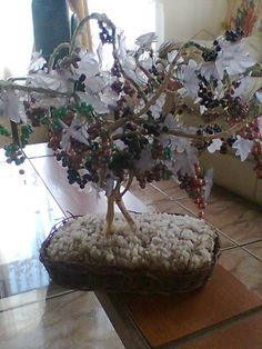 bonsai de mostacillas -