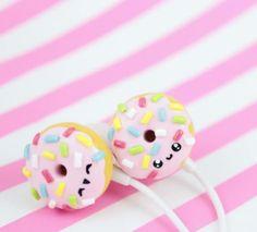 So kawaii headphones - Carola Kawaii Diy, Kawaii Crafts, Kawaii Cute, Cute Crafts, Diy And Crafts, Kawaii Stuff, Kawaii Things, Diy Fimo, Cute Polymer Clay