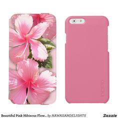 Beautiful Pink Hibiscus Flowers iPhone Wallet Case Incipio Watson™ iPhone 6 Wallet Case