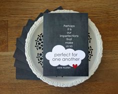 Jane Austen Greeting Card - For Her - Friendship Book Lover Literary Quote - Cloud Heart Charcoal Gray Birthday Card on Etsy, $5.00