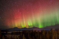 Talkeetna Vista, aurora borealis photo from Alaska