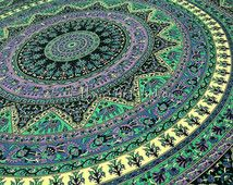 Indian cotton Psychedelic Tapestry, Star Mandala tapestry hippie bedding throw bedspread bohemian traditional Tapestry ethnic decor art
