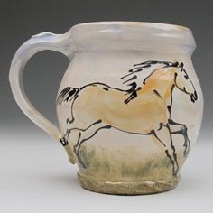Love this palomino horse mug!