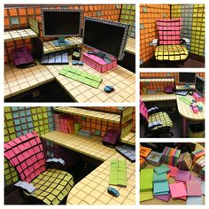 Post - it office prank - can't imagine how long this took!