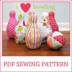 Download I heart Bowling sewing pattern Sewing Pattern   Toys & Activities Sewing Patterns for Download   YouCanMakeThis.com