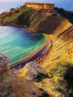 Golden Bay, Malta. by sharlene