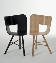 Stylish Chair Made of Assembled Curved Plywood